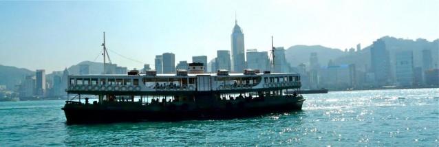 Hong Kong - Fähre über Victoria Harbour