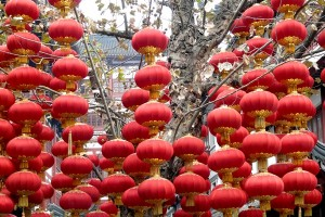 Rote Laternen in China