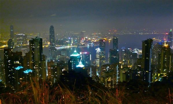 Hong Kong Skyline bei Nacht