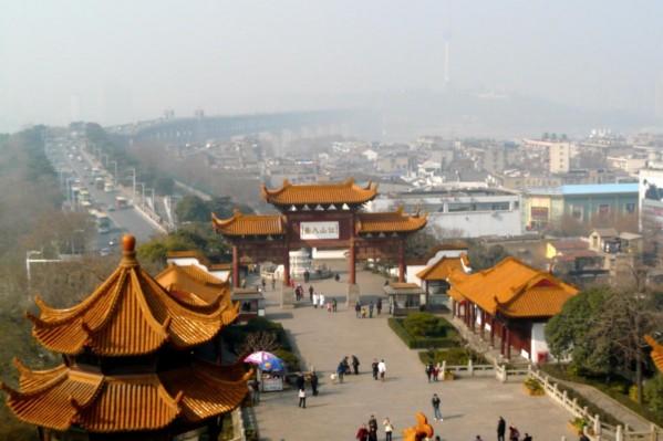 Aussicht vom Gelben Kranich Pavillon