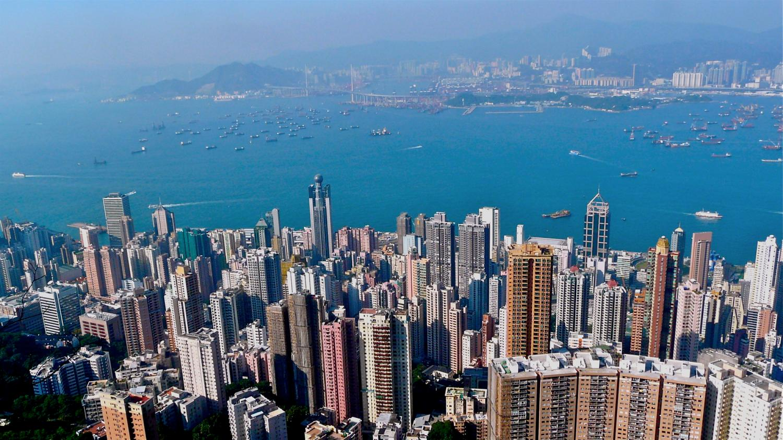 Hong Kong Eingang zum Victoria Harbour
