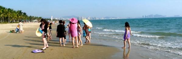 Touristen auf Hainan