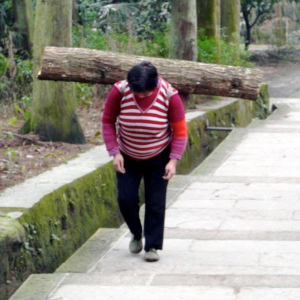 Träger am Emei Shan