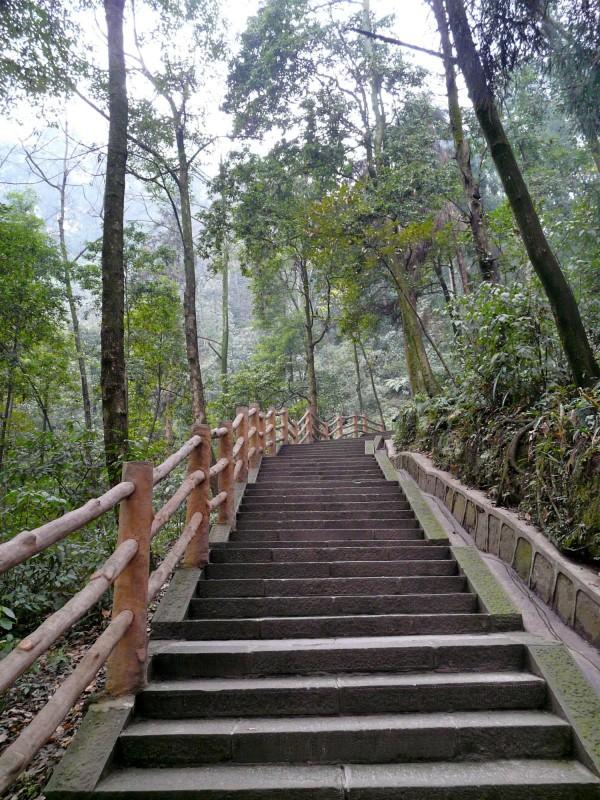 Treppen auf den Emei Shan