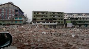 Überreste des Sichuan Erdbeben