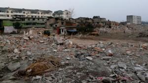 Überreste des Sichuan Erdbebens