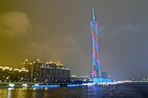 Lightshow des Canton Tower