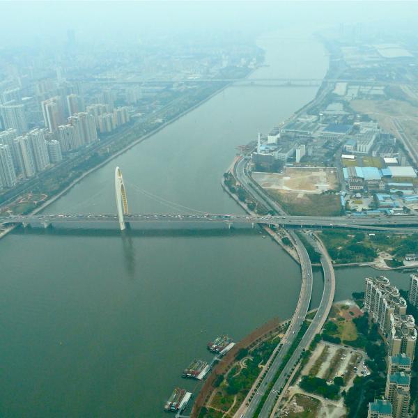 Der Perlfluss in Guangzhou (Kanton)