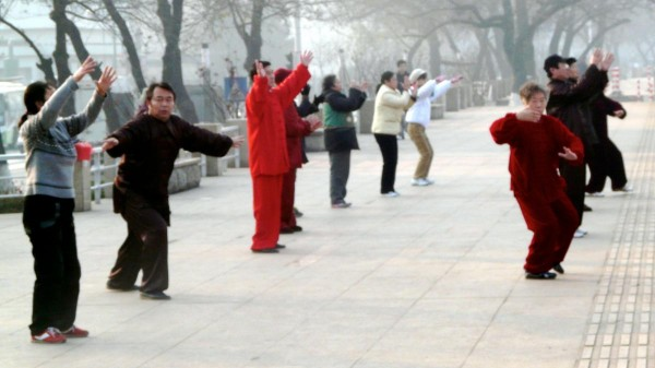 Frühsport Tai Chi in China