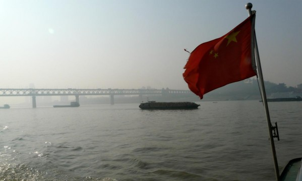 Über den Jangtse in Wuhan
