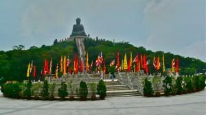 Big Buddha auf dem Ngong Ping Plateau von Lantau