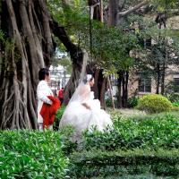 Brautpaar auf Shamian