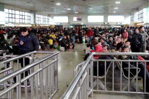 Wartehalle im Bahnhof von Peking